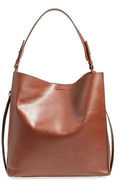 AllSaints Paradise North/South Leather Tote