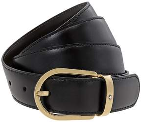 Montblanc Classic Line Leather Belt- Black