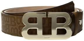 Bally Mirror B Adjustable Leather Belt Men's Belts
