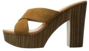 Callisto Womens Bronson Leather Open Toe Casual Platform Sandals.