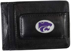 NCAA Kansas State Wildcats Black Leather Cash & Card Holder