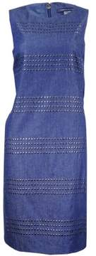 Tommy Hilfiger Women's Studded Chambray Dress