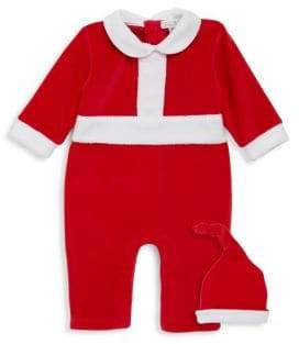 Kissy Kissy Baby's Two-Piece Santa Helper Hat and Playsuit Set