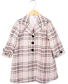 Helena Girls' Lightweight Plaid Coat