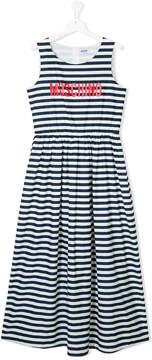 Moschino Kids bretton stripe dress