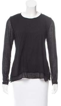 Camilla And Marc Long Sleeve Scoop Neck Top