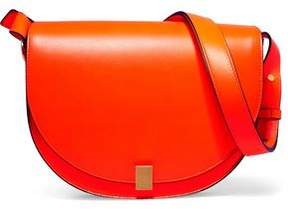 Victoria Beckham Half Moon Box Neon Leather Shoulder Bag