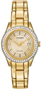 Citizen FE1122-53P Women's Gold Steel Bracelet With Champagne Analog Dial Watch