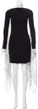 Gareth Pugh Cape Accented Mini Dress