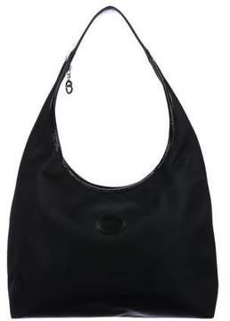 Longchamp Leather-Trimmed Nylon Hobo