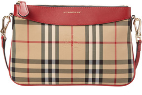 Burberry Peyton Horseferry Check & Leather Clutch Bag - ONE COLOR - STYLE