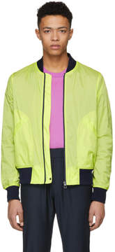 Paul Smith Yellow Neon Ripstop Bomber Jacket
