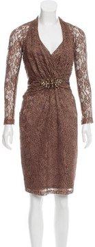 David Meister Embellished Knee-Length Dress
