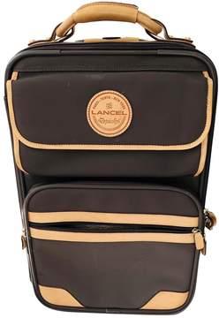 Lancel Vintage Brown Cloth Travel Bag