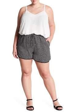Angie Dolphin Polka Dot Shorts (Plus Size)