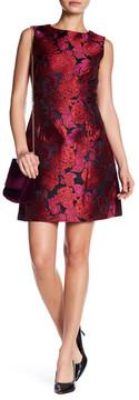 Betsey Johnson Floral Jacquard Sleeveless Dress