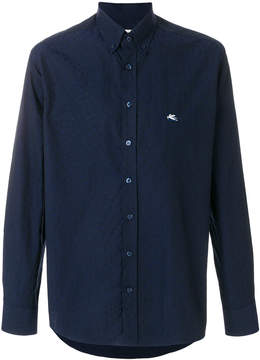 Etro micro embroidered shirt