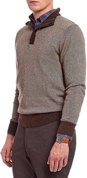 Daniel Cremieux Signature Birdseye Quarter-Zip Mockneck Sweater