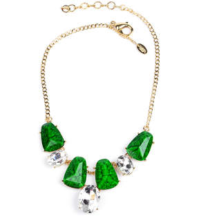 Amrita Singh Goldtone & Evergreen Tamira Necklace