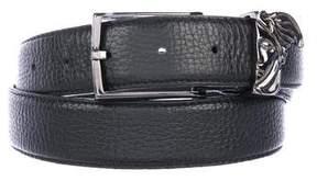Versace Pebbled Leather Medusa Belt