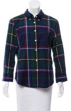 Band Of Outsiders Plaid Button-Up