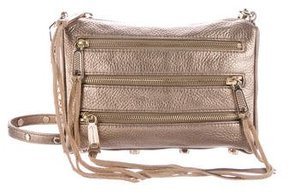 Rebecca Minkoff Leather 5-Zip Crossbody Bag - GOLD - STYLE