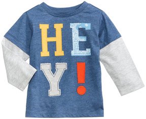 First Impressions Hey-Print Layered-Look T-Shirt, Baby Boys (0-24 months), Created for Macy's
