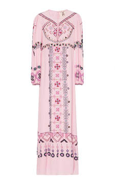 Figue Emmaline Embroidered Silk Dress