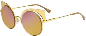 Safilo USA Fendi 0177 Geometric Round Sunglasses