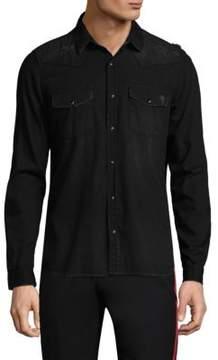 The Kooples Denim Button-Front Shirt