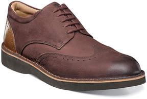 Florsheim Burgundy Navigator Leather Oxford - Men