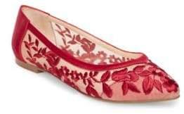 Betsey Johnson Leah Floral Mesh Ballet Flats