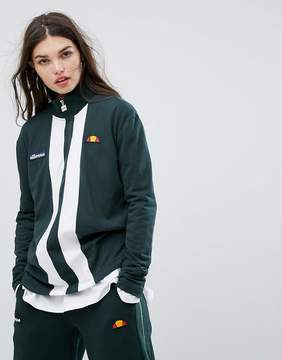 Ellesse Sweatshirt With High Half Zip And Sports Stripe Tracksuit