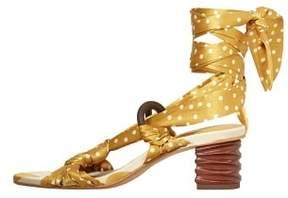 MANGO Polka-dot strap sandals