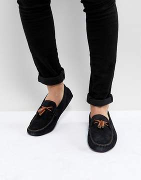 Ted Baker Urbonns Suede Loafers In Navy