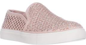 Material Girl Mg35 Meidyth Round Toe Slip On Fashion Sneakers, Blush.