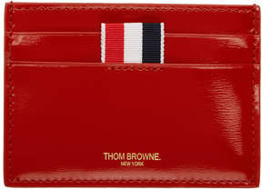 Thom Browne Red Double Sided Card Holder