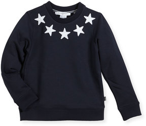 Givenchy Boys' Crewneck Sweatshirt w/ Star Patches, Size 4-5