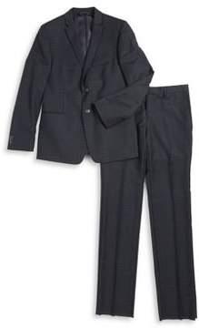 Michael Kors Boy's Patterned Wool Suit