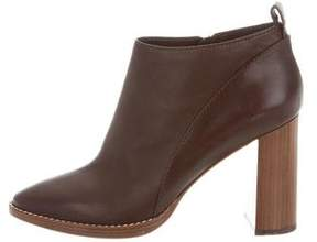 Max Mara Leather Round-Toe Ankle Boots