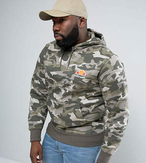 Ellesse PLUS Hoodie With Small Logo in Camo