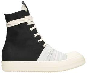 Drkshdw Black Cotton Vegan Sneakers