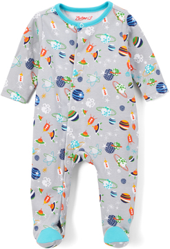 Zutano Gray Space Kiddet Footie - Infant