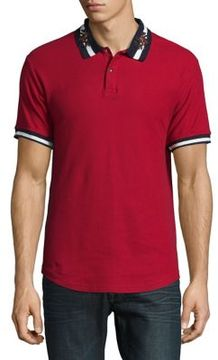 Reason Embroidered Contrast Polo Shirt
