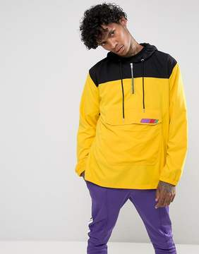 Jaded London Overhead Windbreaker Jacket In Yellow