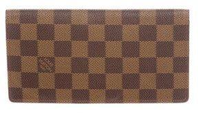 Louis Vuitton Damier Ebene Brazza Wallet - BROWN - STYLE