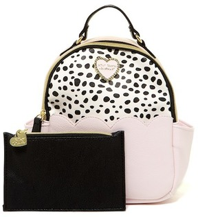 Betsey Johnson Petite Chic Mini Backpack with Pouch