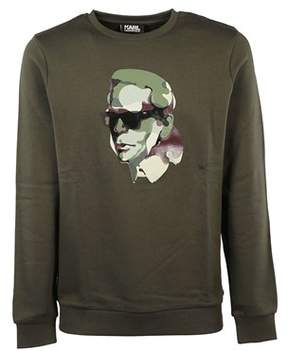 Karl Lagerfeld Men's 582940590 Green Cotton Sweatshirt.