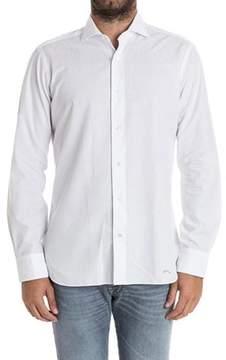 Barba Men's White Cotton Shirt.