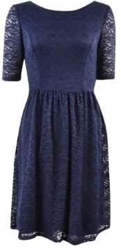 Jessica Simpson Women's Laced Short Sleeve A-Line Dress